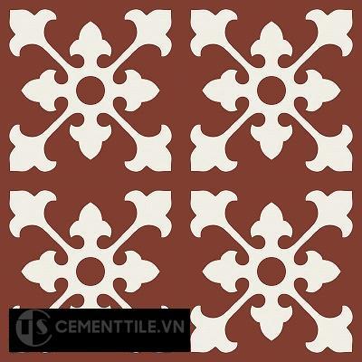 Gạch bông cổ điển CTS 39.1 - 4 viên ( Encaustic cement tile 39.1 - 4 tiles )