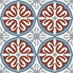 Gạch bông CTS 49.1(1-4-9-30) - Encaustic cement tile CTS 49.1(1-4-9-30) - 4 viên