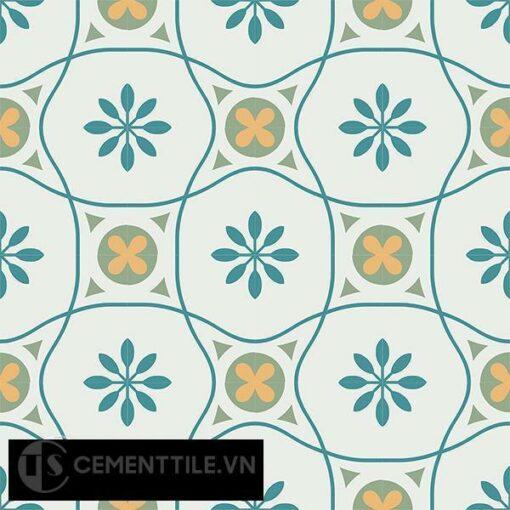 Gạch bông CTS 50.1(4-6-7-148) - 16 viên - Encaustic cement tile CTS 50.1(4-6-7-148)-16 tiles