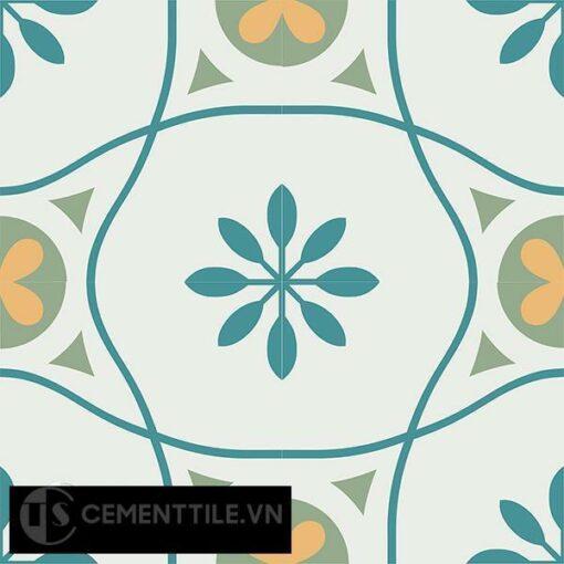 Gạch bông CTS 50.1(4-6-7-148) - 4 viên - Encaustic cement tile CTS 50.1(4-6-7-148)-4 tiles