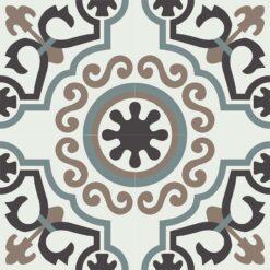 Gạch bông CTS 53.1(4-13-49-58) - 4 viên - Encaustic cement tile CTS 53.1(4-13-49-58)-4 tiles