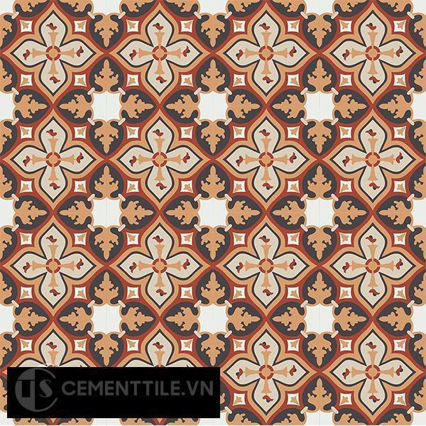 Gạch bông CTS 54.1(4-12-13-30-34) - 16 viên - Encaustic cement tile CTS 54.1(4-12-13-30-34)-16 tiles