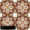 Gạch bông CTS 54.1(4-12-13-30-34) - 4 viên - Encaustic cement tile CTS 54.1(4-12-13-30-34)-4 tiles