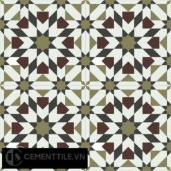 Gạch bông CTS 56.1(4-13-52-60) - 4 viên - Encaustic cement tile CTS 56.1(4-13-52-60) - 4 tiles