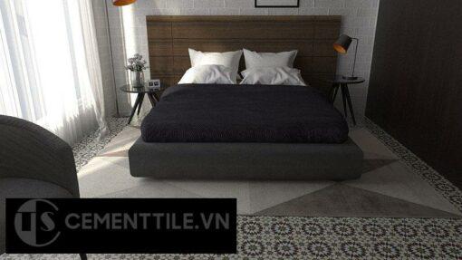 Gạch bông cts 56.1 lát nền phòng ngủ