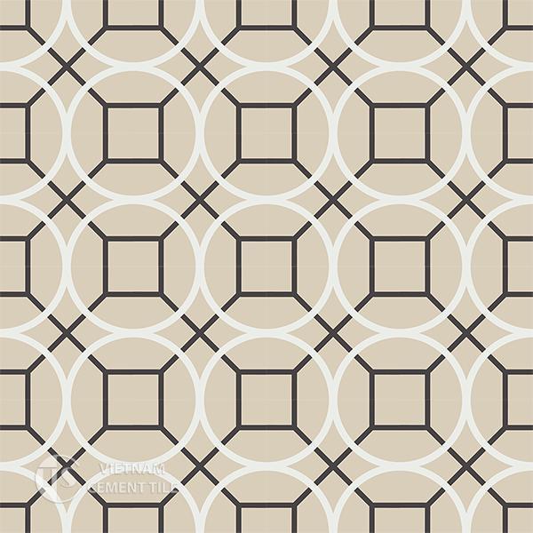 Gạch bông CTS 58.1(4-12-13) - 16 viên - Encaustic cement tile CTS 58.1(4-12-13)-16 tiles