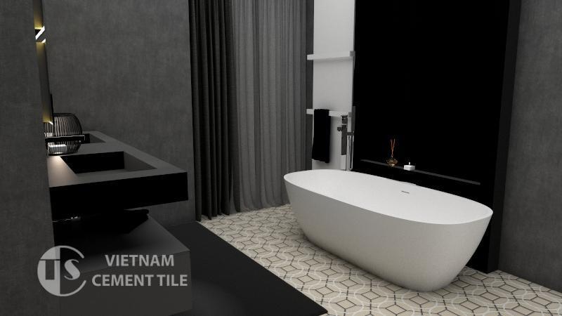 Gạch bông cts 58.1 lát nền nhà tắm