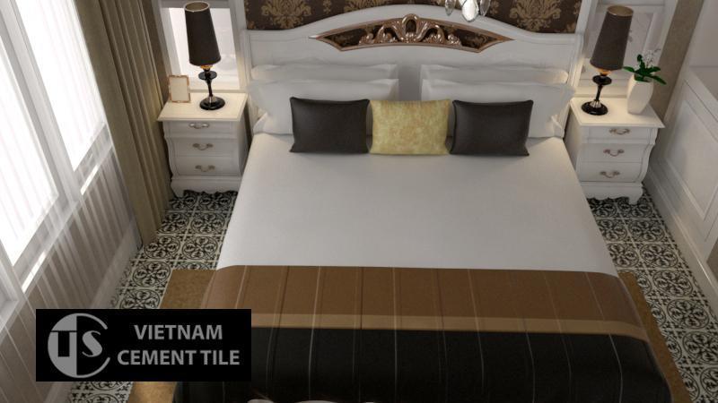 Gạch bông CTS 59.1 lát nền phòng ngủ