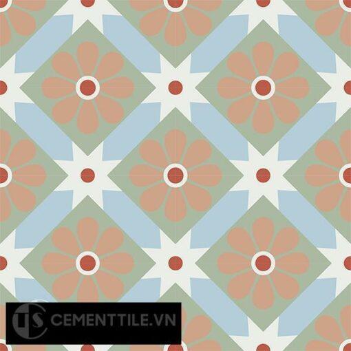 Gạch bông CTS 62.1(2-4-5-7-11) - 16 viên - Encaustic cement tile CTS 62.1(2-4-5-7-11)-16 tiles