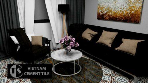 Gạch bông cts 64.1 trang trí phòng khách