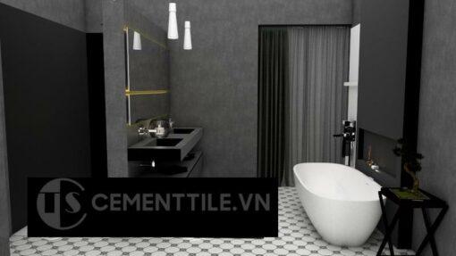 Gạch bông cts 66.1 lát nền nhà tắm