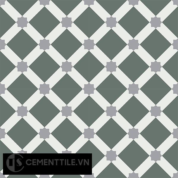 Gạch bông CTS 68.3(3-4-9) - 4 viên - Encaustic cement tile CTS 68.3(3-4-9)-4 tiles