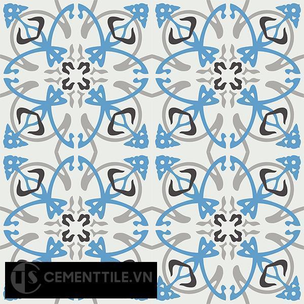 Gạch bông CTS 71.1(4-8-9-13) - 16 viên - Encaustic cement tile CTS 71.1(4-8-9-13)-16 tiles
