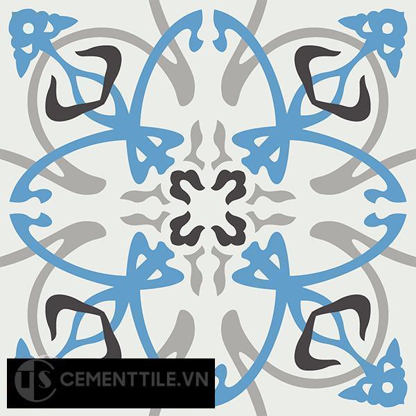 Gạch bông CTS 71.1(4-8-9-13) - 4 viên - Encaustic cement tile CTS 71.1(4-8-9-13)-4 tiles