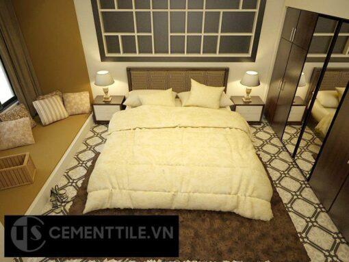 Gạch bông cts 72.1 trang trí phòng ngủ