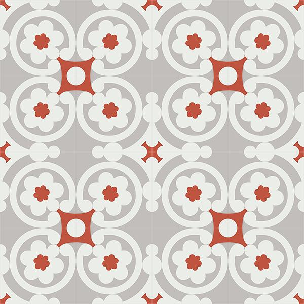 Gạch bông CTS 73.1(4-5-9) - 16 viên - Encaustic cement tile CTS 73.1(4-5-9)-16 tiles