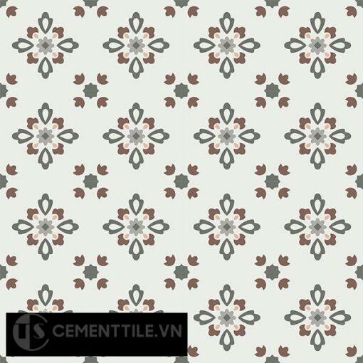 Gạch bông CTS 74.1(3-4-9-14-38) - 16 viên - Encaustic cement tile CTS 74.1(3-4-9-14-38)-16 tiles