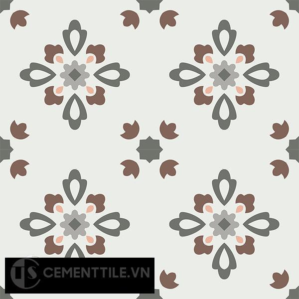 Gạch bông CTS 74.1(3-4-9-14-38) - 4 viên - Encaustic cement tile CTS 74.1(3-4-9-14-38)-4 tiles