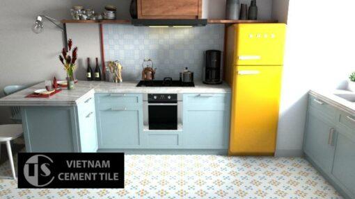 Gạch bông CTS 174.2 lát nền nhà bếp