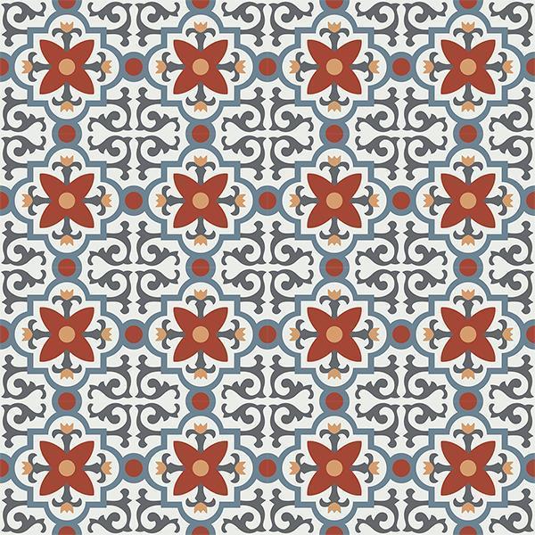 Gạch bông CTS 76.1(4-17-19-30-34) - 16 viên - Encaustic cement tile CTS 76.1(4-17-19-30-34) - 16 tiles