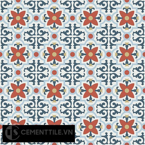 Gạch bông CTS 76.1(1-2-4-5-52) - 16 viên - Encaustic cement tile CTS 76.1(1-2-4-5-52)-16 tiles