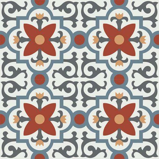 Gạch bông CTS 76.1(4-17-19-30-34) - 4 viên - Encaustic cement tile CTS 76.1(4-17-19-30-34) - 4 tiles