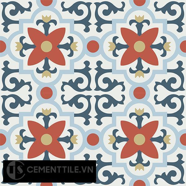 Gạch bông CTS 76.1(1-2-4-5-52) - 4 viên - Encaustic cement tile CTS 76.1(1-2-4-5-52)-4 tiles