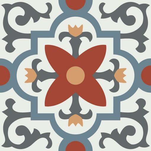 Gạch bông CTS 76.1(4-17-19-30-34) - Encaustic cement tile CTS 76.1(4-17-19-30-34)