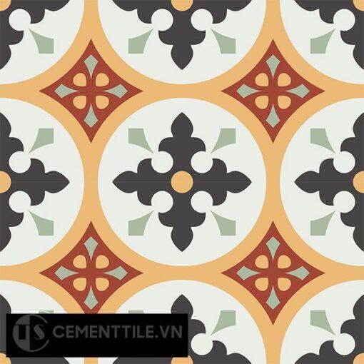Gạch bông CTS 57.1(4-5-6-7-13) - 4 viên - Encaustic cement tile CTS 57.1(4-5-6-7-13)-4 tiles