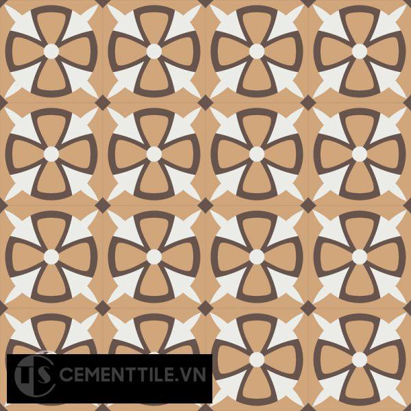 Gạch bông CTS 121.1(4-11-14) - 16 viên - Encaustic cement tile CTS 121.1(4-11-14)-16 tiles