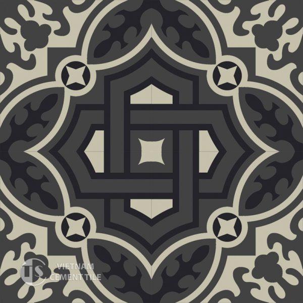 Gạch bông CTS 122.1(9-12-13) - 4 viên - Encaustic cement tile CTS 122.1(9-12-13)- 4 tiles