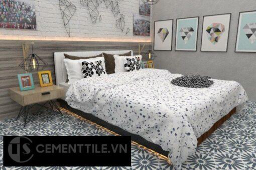 Gạch bông cts 123.1 trang trí phòng ngủ