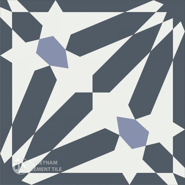 Gạch bông CTS 123.1(4-9-84) - Encaustic cement tile CTS 123.1(4-9-84)