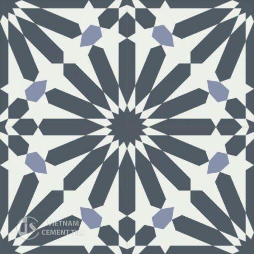 Gạch bông CTS 123.1(4-9-84) - 4 viên - Encaustic cement tile CTS 123.1(4-9-84) - 4 tiles