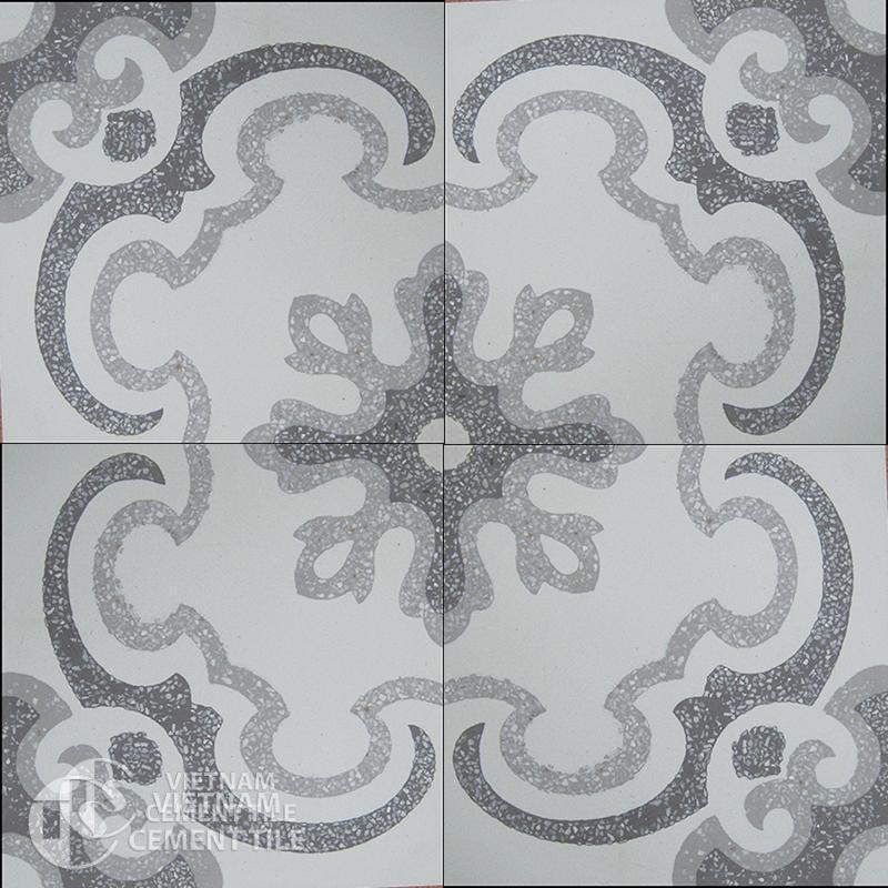 Encaustice Terrazzo tile CTS T103.1-4tiles