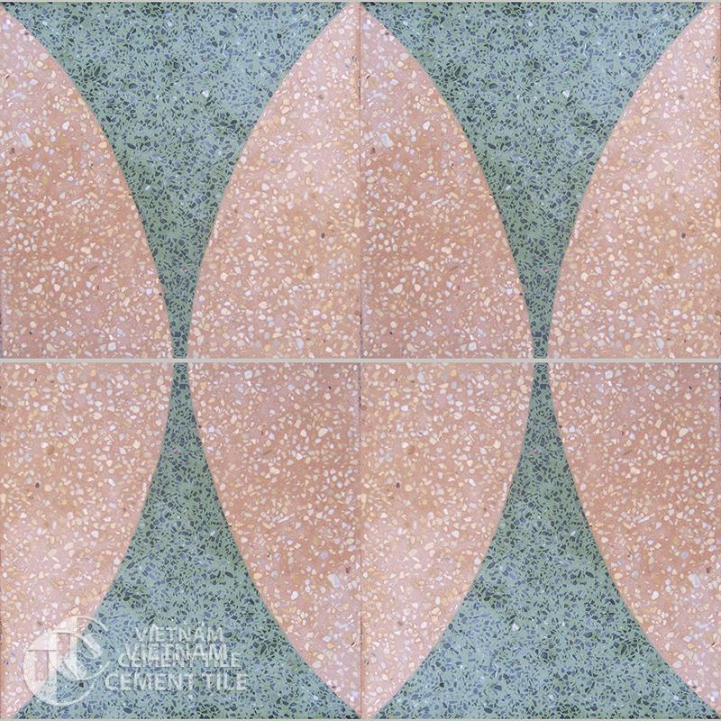 Encaustice Terrazzo tile CTS T105.1-4tiles