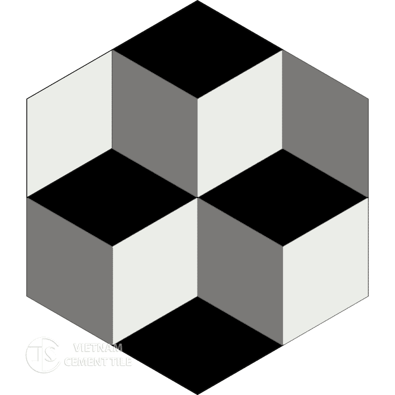 Encaustic cement tile Hexagon CTS