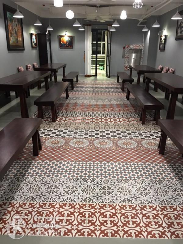 Gạch bông CTS tại phòng trà Nguyễn Ánh 9