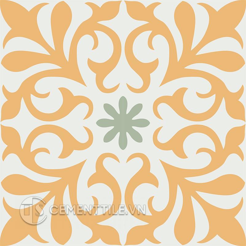 Gạch bông CTS 128.2(4-6-7) - 4 viên - Encaustic cement tile CTS 128.2(4-6-7) - 4 tiles