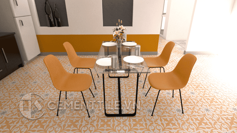 Gạch bông CTS 128.2 + Cement tile CTS 128.2