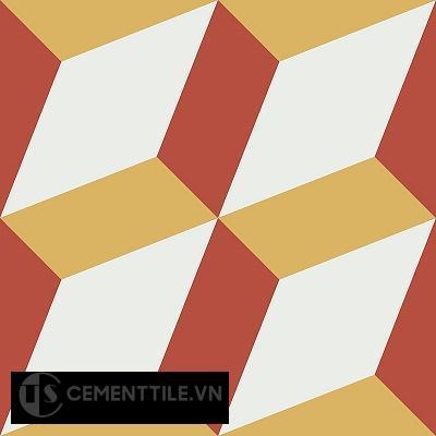 Gạch bông cổ điển CTS 13.2 - 4 viên ( Encaustic cement tile 13.2 - 4 tiles )