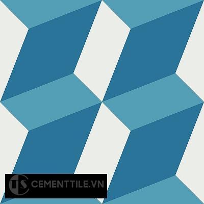 Gạch bông cổ điển CTS 13.3 - 4 viên ( Encaustic cement tile 13.3 - 4 tiles )