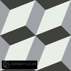 Gạch bông cổ điển CTS 13.6 - 4 viên ( Encaustic cement tile 13.6 - 4 tiles )