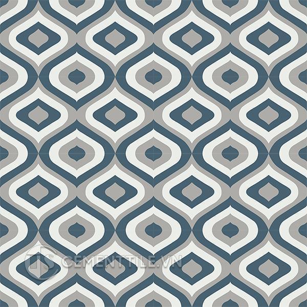 Gạch bông CTS 130.1(1-4-9) - 16 viên - Encaustic cement tile CTS 130.1(1-4-9) - 16 tiles