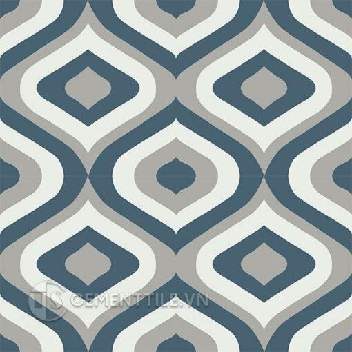 Gạch bông CTS 130.1(1-4-9) - 4 viên - Encaustic cement tile CTS 130.1(1-4-9) - 4 tiles