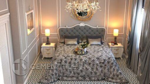 Gạch bông CTS 130.1 lát nền phòng ngủ