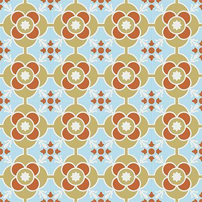 Gạch bông CTS 51.4(2-4-129-145) - 16 viên - Encaustic cement tile CTS 51.4(2-4-129-145) - 16 viên