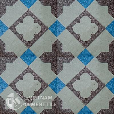 Encaustice Terrazzo tile CTS 108.1 - 4 tiles