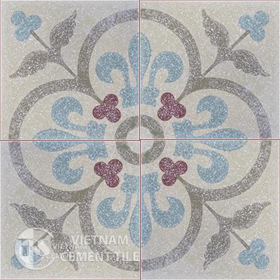 Encaustice Terrazzo tile CTS T15.1 - 4 tiles