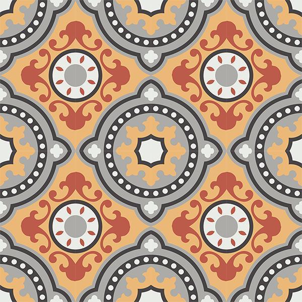 Gạch bông CTS 112.1(4-5-6-9-13) - 16 viên - Encaustic cement tile CTS 112.1(4-5-6-9-13) - 16 tiles